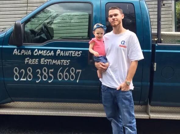 Brandon Lafer owner of Alpha Omega Painters